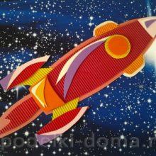 Аппликация «Ракета» к Дню космонавтики