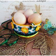 Корзинка для яиц на Пасху