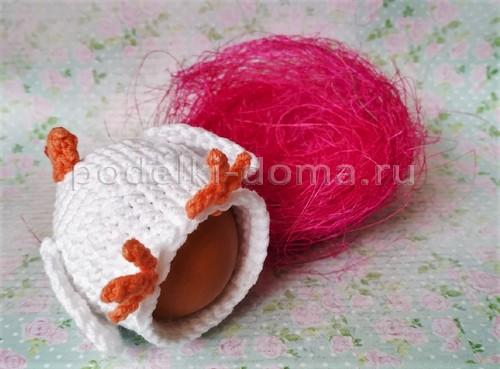 Курочка на пасхальное яйцо (вязание крючком) - 5 МК