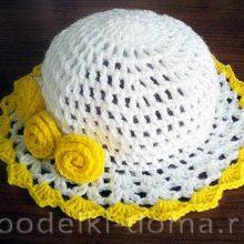 Шляпка для девочки (вязание крючком)