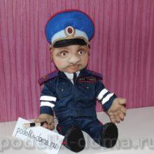 Кукла «Гаишник» из капрона