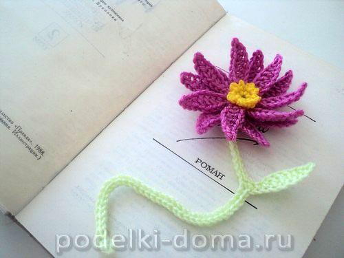 vyazanaya zakladka cvetok15