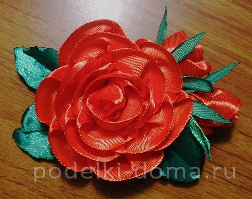 zakolka roza iz atlasnoy lenty30