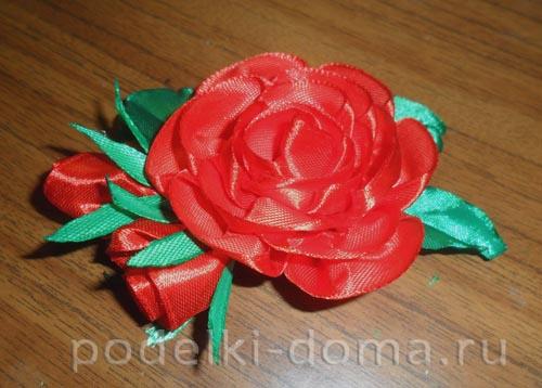 zakolka roza iz atlasnoy lenty31