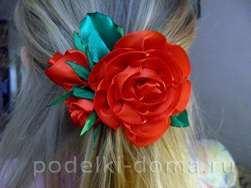 zakolka roza iz atlasnoy lenty32