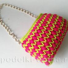 Вязаная сумочка (крючком). Мастер-классы