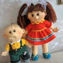 Вязаные куколки, спицами