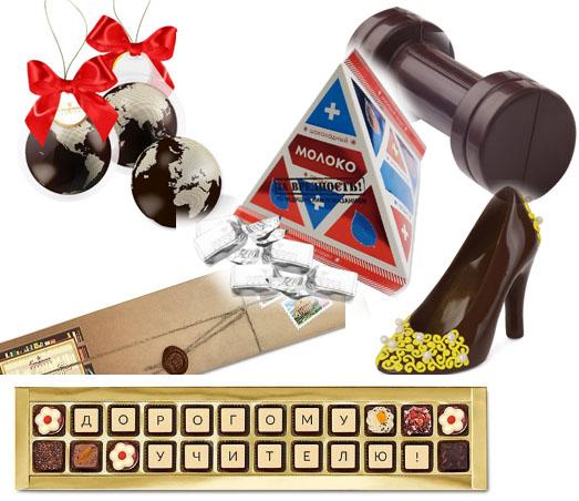 шоколадные подарки учителям