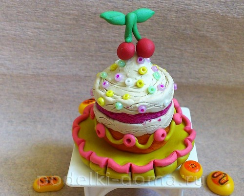торт из пластилина10