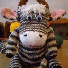 Мягкая игрушка «Бычок» (вязание спицами)