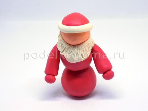 Дед Мороз из пластилина, пошагово