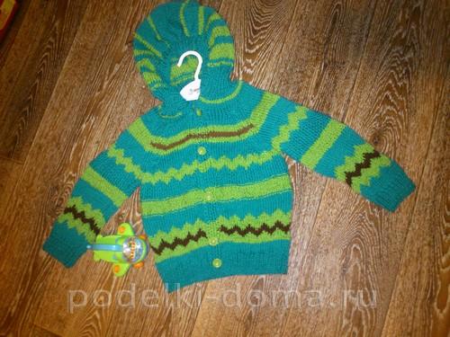 детская кофточка с капюшоном спицами схемы и описание Podelki