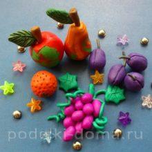 Лепка фруктов из пластилина