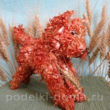 Лисичка (поделка из луковой шелухи)