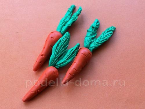 Лепка из пластилина: овощи