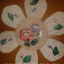 Панно из бересты «Цветочное»