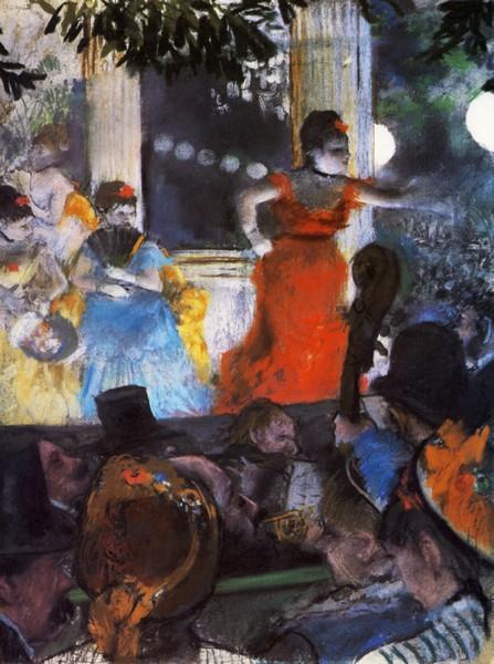 Эдгар Дега. Концерт в кафе Амбасадор