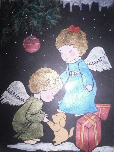 Витраж Здравствуй, Рождество