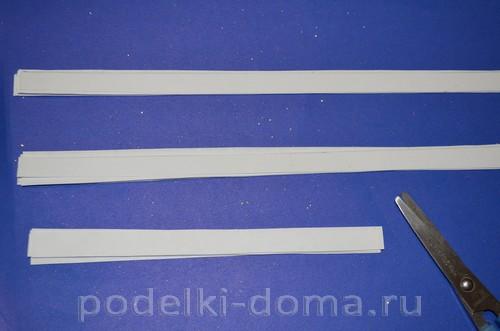 бумажная снежинка фальш квиллинг 3