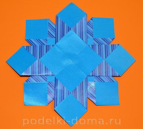 бумажная снежинка из квадратов10