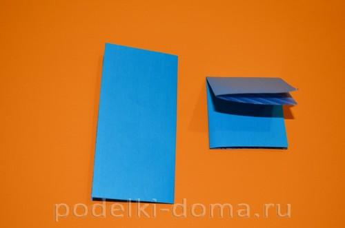 бумажная снежинка из квадратов3