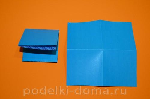 бумажная снежинка из квадратов4