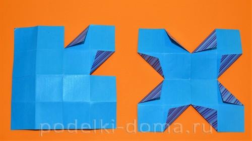 бумажная снежинка из квадратов8