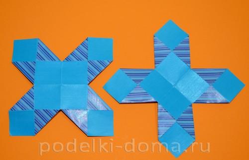 бумажная снежинка из квадратов9
