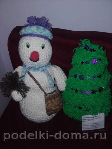 Снеговик почтовик вязание крючок