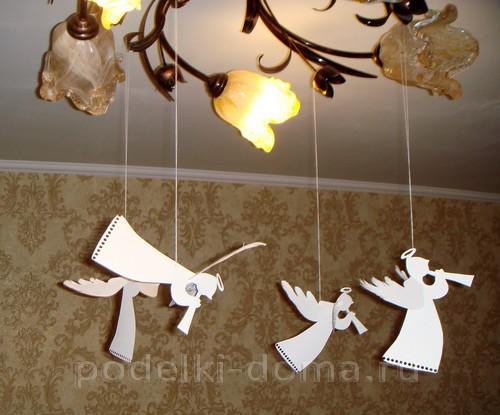 belye-angely-iz-bumagi05 Ангелочки из разных материалов своими руками