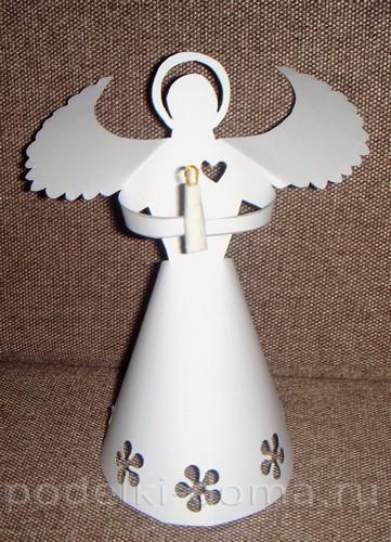 belye-angely-iz-bumagi10 Ангелочки из разных материалов своими руками