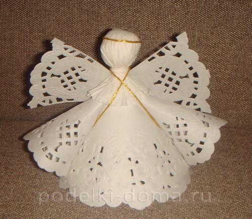 belye-angely-iz-bumagi22 Ангелочки из разных материалов своими руками