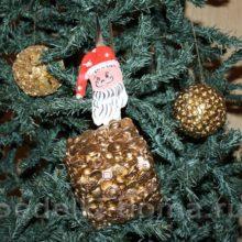 Новогодние игрушки на елку из подручных материалов