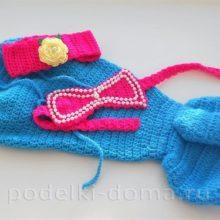 Костюм Русалочки для малышки (вязание крючком)