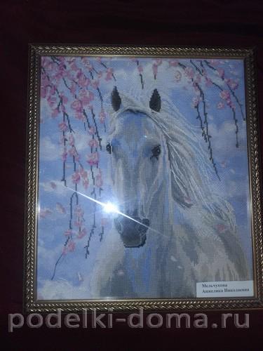 лошадь вышивка