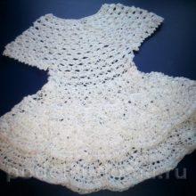 Ажурное платье для девочки, вязание крючком