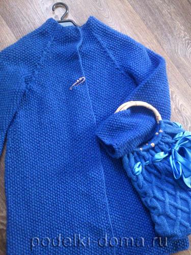 Кардиган одним полотном (вязание спицами)