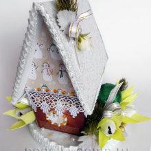Сладкий подарок «Зимний домик»