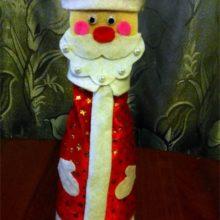 Одежда для бутылки «Дед Мороз»