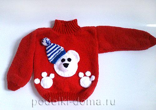 pulover detskiy s mishkoy spitsami39