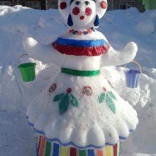Снежные скульптуры детского сада № 267, 2017 год