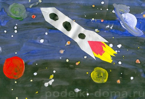 Druzhin.-Raketa-v-kosmose