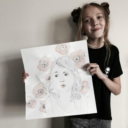 Екатерина Корнеева, 10 лет. Аня в маках. Учебно-творческая работа.