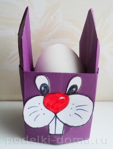 бумажная подставка под яйцо заяц 12