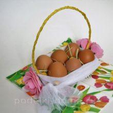 Корзинка для пасхальных яиц из лотка