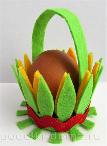 подставка для яйца из фетра
