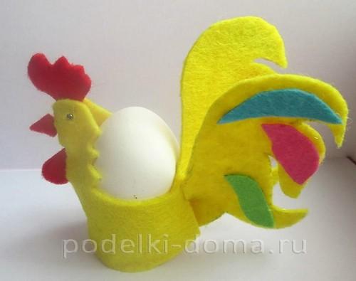 подставка для яйца петушок из фетра 01