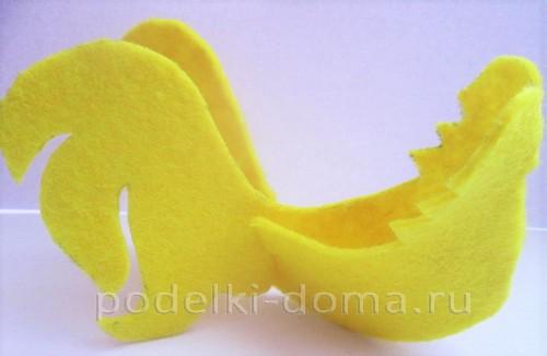 подставка для яйца петушок из фетра 07