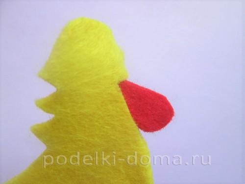 подставка для яйца петушок из фетра 08
