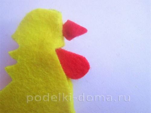 подставка для яйца петушок из фетра 10